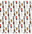 halloween costumes pattern vector image