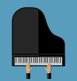 hands playing the grand piano vector image