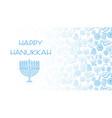 hanukkah blue background vector image