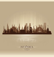 istanbul turkey city skyline silhouette vector image vector image