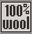 knitted text 100 percent wool in black and white vector image