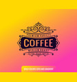 label on color gradient background vintage logo vector image vector image