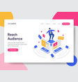 landing page template of reach social media vector image vector image