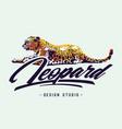 leopard design vector image vector image