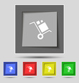 loader Icon sign on original five colored buttons vector image vector image