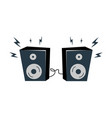 loudspeakers with bolts set vector image vector image