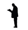 man read newspaper vector image vector image