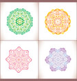mandala colored set of vector image