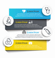 medical label infographic and line icon vector image vector image