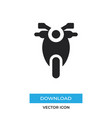 motorcycle icon simple car sign vector image vector image