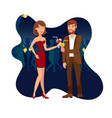 night party clubbing flat vector image vector image