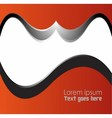Orange black Template wave Abstract backgr vector image
