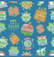 organic vegan healthy food eco restaurant vector image