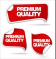 premium quality sticker vector image vector image