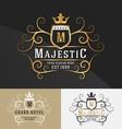premium royal crest logo design vector image vector image