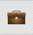 realistic briefcase brown for business isolated vector image vector image