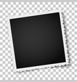 retro realistic square photo frame vector image vector image
