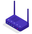 router connection modem for wifi internet access vector image vector image