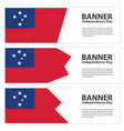 samoa flag banners collection independence day vector image vector image