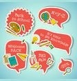 school education stickers collection vector image vector image