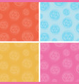 set abstract circles spin pattern multicolor vector image