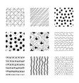 set abstract squares hand drawn backgrounds vector image
