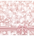 Shiny pink background with bow vector image