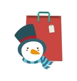 Shopping bag of Merry Christmas design vector image vector image