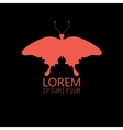 sign butterfly on a black background vector image vector image