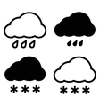 Simple cloud icon vector image vector image