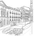 sketch street madrid vector image vector image