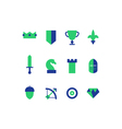 Strategy game icons set vector image