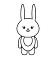stuffed animal rabbit vector image vector image