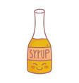 syrup bottle menu restaurant cartoon food cute vector image