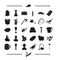 tool desert landmark and other web icon in black vector image vector image