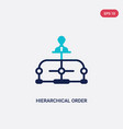 two color hierarchical order icon from business vector image vector image