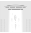 UFO in a big city vector image vector image