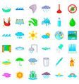 water supply icons set cartoon style vector image vector image