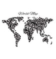 world map floral ornament for your design vector image