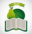 fruit recipe book vector image