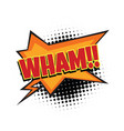 wham comic word vector image