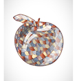 Abstract apple vector image