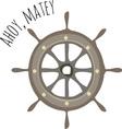 Ahoy Matey vector image vector image