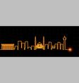 ankara light streak skyline vector image vector image