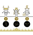 astrology signs - zodiac - earth vector image