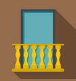 balcony icon flat style vector image vector image