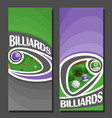 banners for billiards vector image vector image