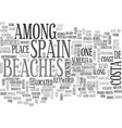 beaches in spain text word cloud concept vector image vector image