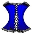 blue corset vector image vector image