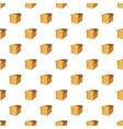 Bread pattern cartoon style vector image vector image